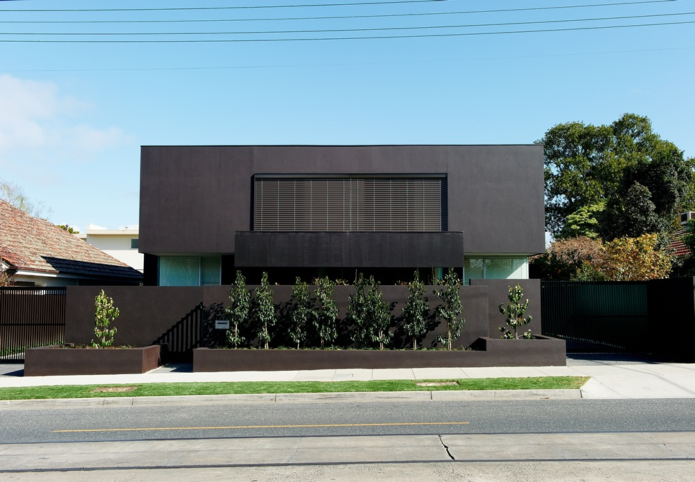 Modern black house for Build a custom home online