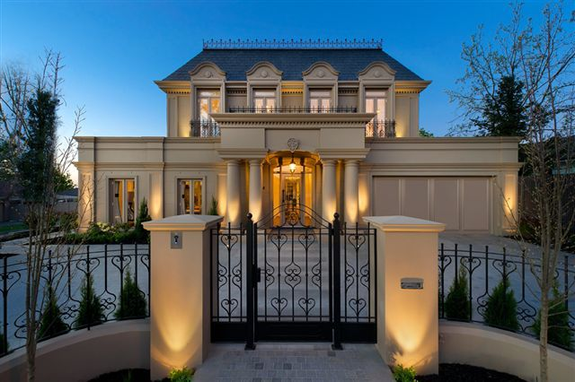 French provincial design custom homes online for Classic house facades
