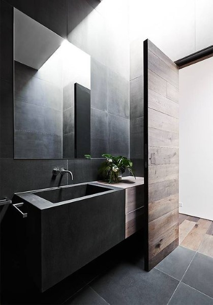 Bathrooms for him masculine bathroom design for Male bathroom decor