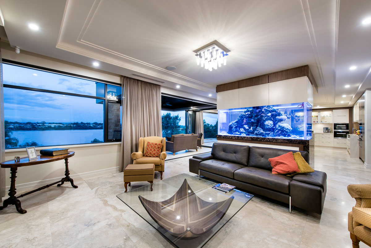 River view homes perth homes with river views perth for Luxury fish tanks