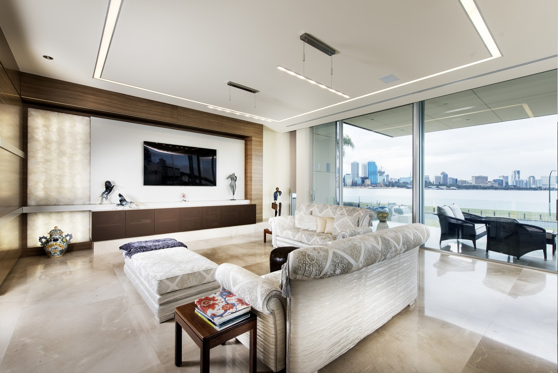 Narrow Block Home - Living Room