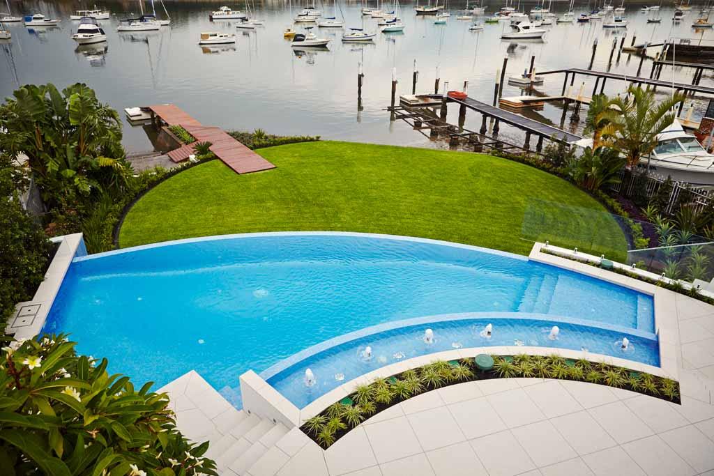 Rolling stone landscapes luxury landscape design sydney for Pool show 2015 sydney