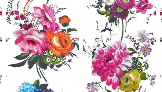 Bold Flower Power Wallpaper