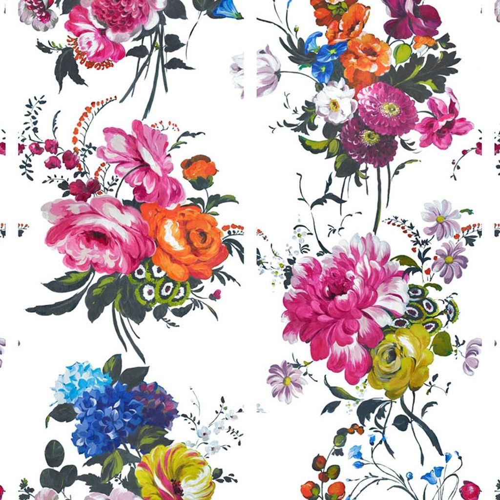 Bold Flower Power Wallpaper Custom Homes Magazine