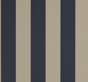 Spalding Stripe - Navy : Sand Wallpaper