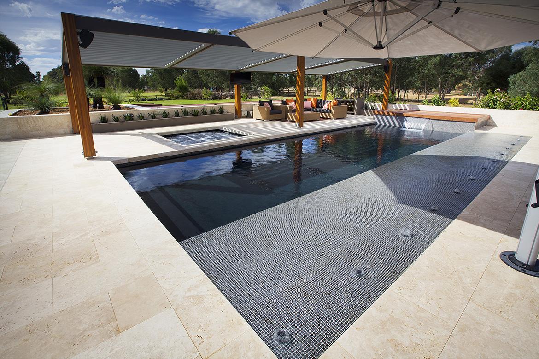 lovely custom pool in melbourn