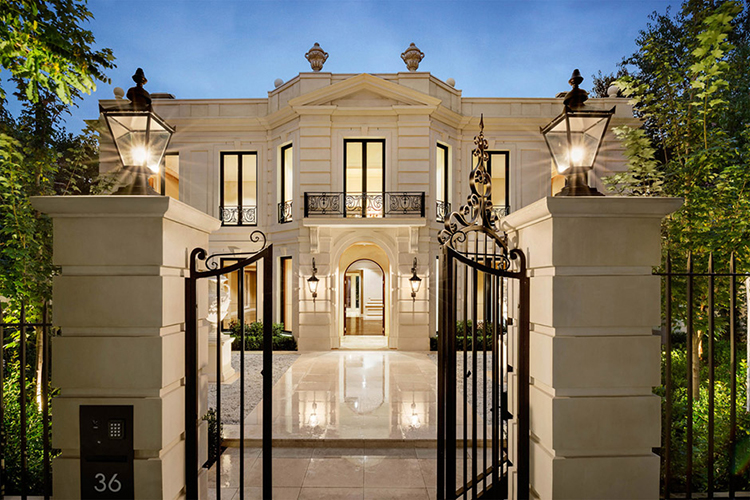 Custom homes melbourne luxury toorak mansion for Classical houses