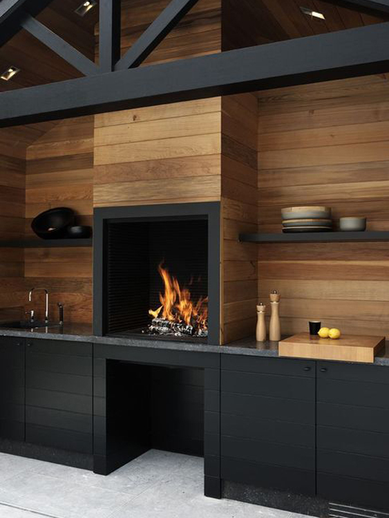 10 beautiful black kitchens for Beautiful black kitchens