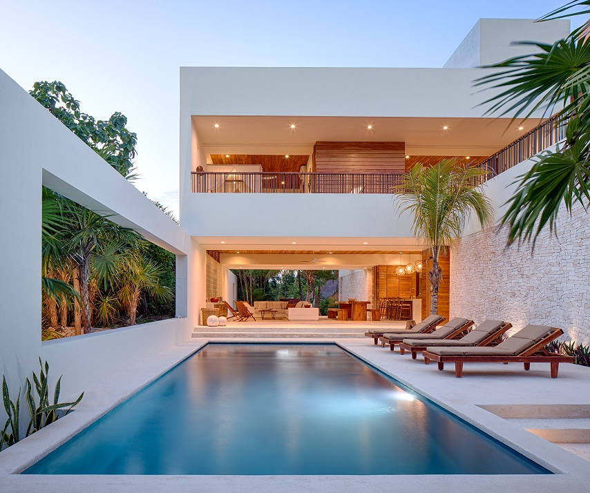 Custom homes mexico luxury villa tulum for Home builders in new mexico