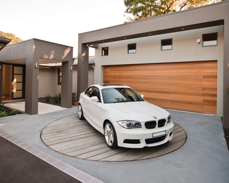 Car turntables custom homes garages for Car turntable plans
