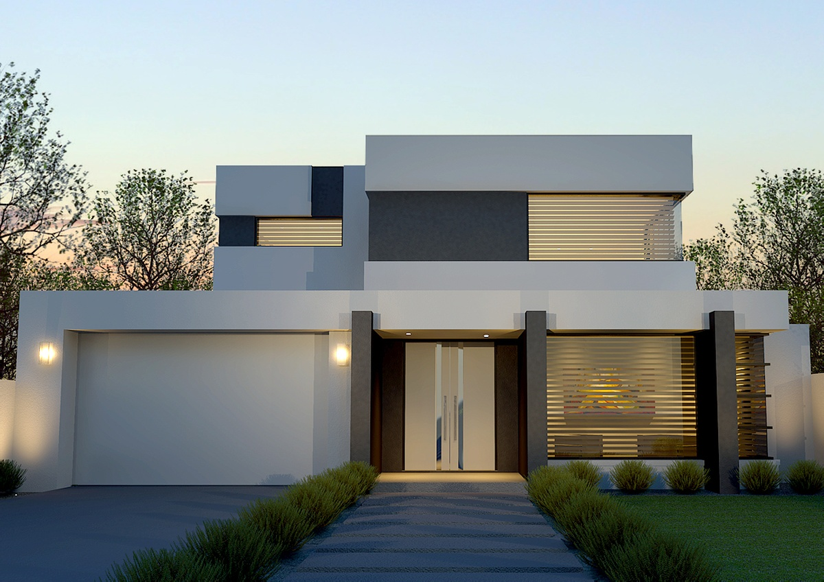 Contemporary custom homes modern luxury homes Contemporary house builders