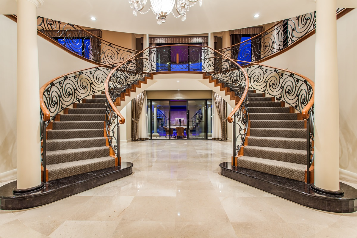 Stunning stairs feature staircases for Custom home designs online