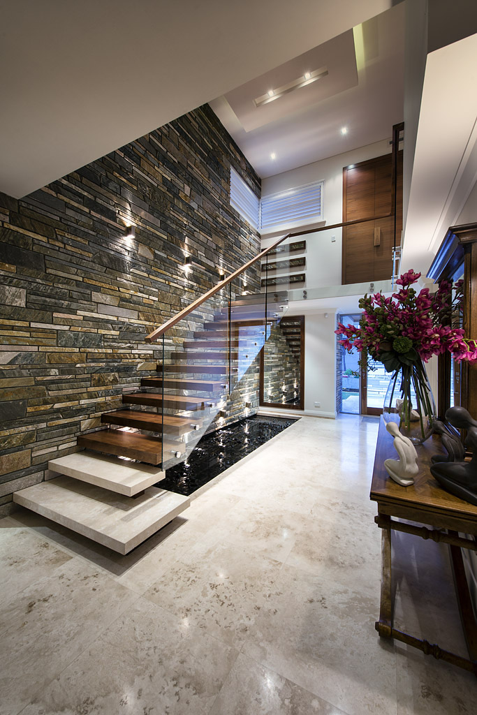 Stunning stairs feature staircases for Modern house hall designs