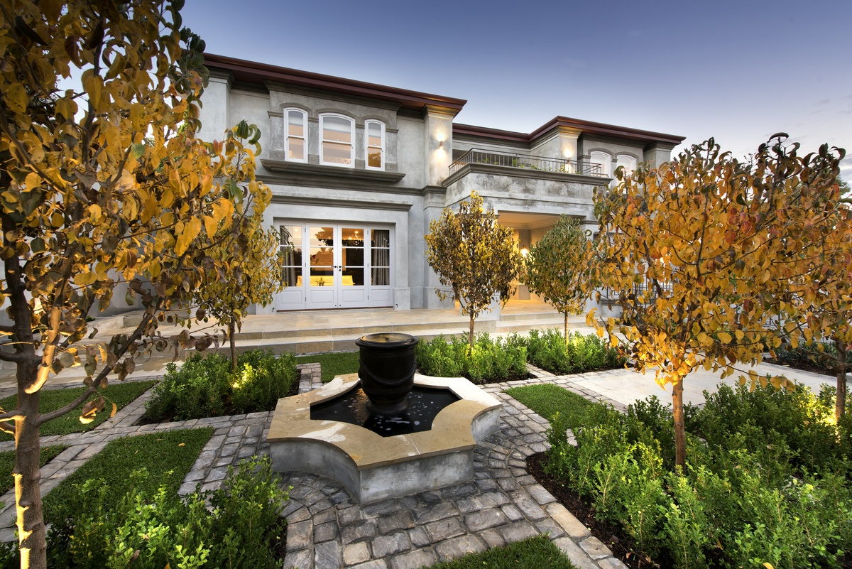 Luxury european style custom home for European style home builders
