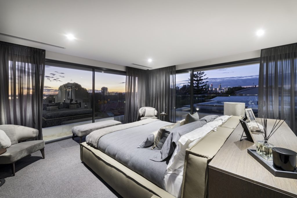 Luxury Homes Perth Zorzi Bedroom With Views