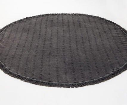 Charcoal Round Beach Towel