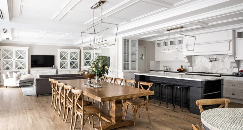Hamptons Style Kitchen Dining and LIving