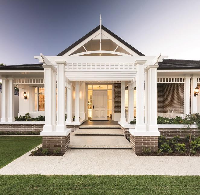 Portico Entry in Luxury Custom Home