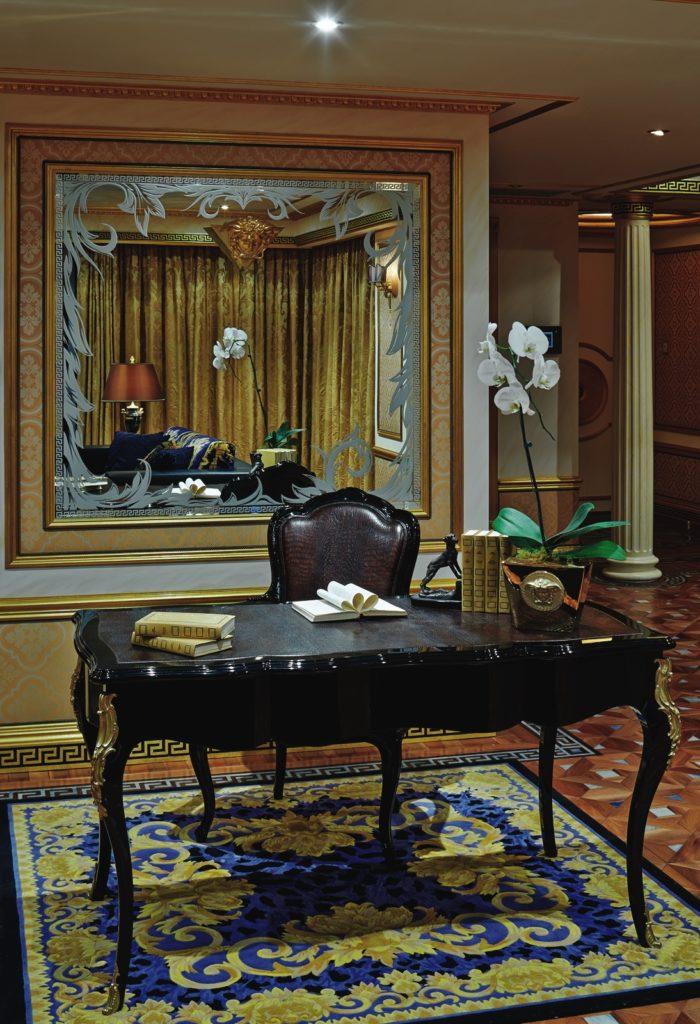 Versace Computer Desk, Luxury Home Design