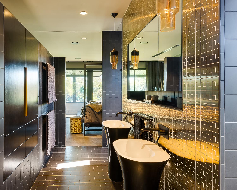 Brass Tiles Luxury Custom Home Brisbane
