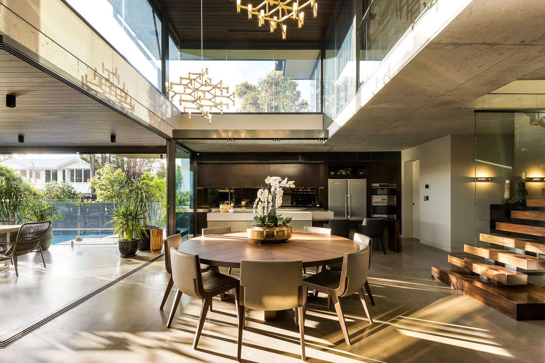 Overhead Void Luxury Custom Home Brisbane