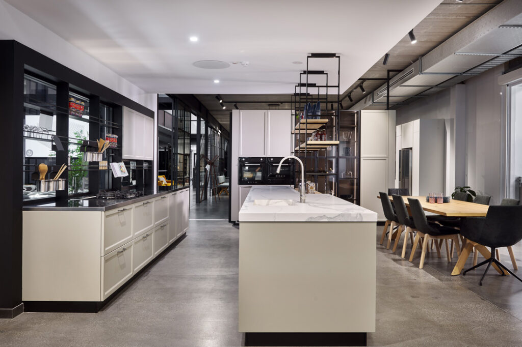 Showroom kitchen at European Concepts