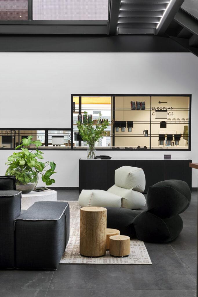 relaxing corner in European Concepts showroom