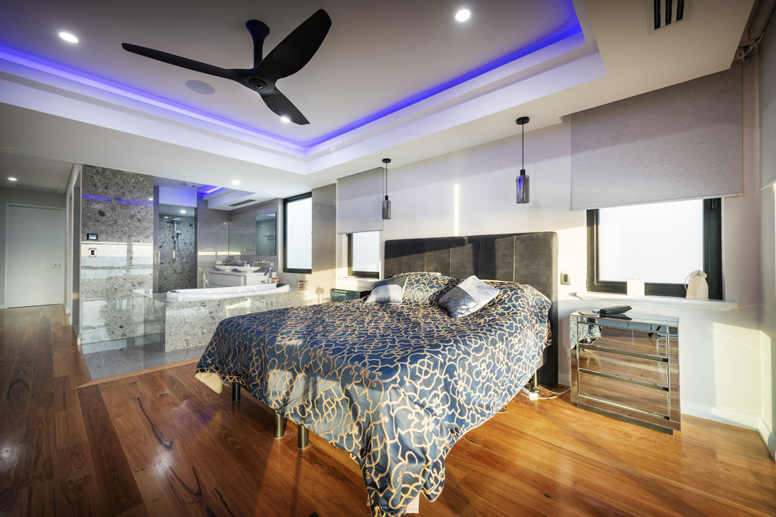 Custom Builders Perth Bedroom with natural light