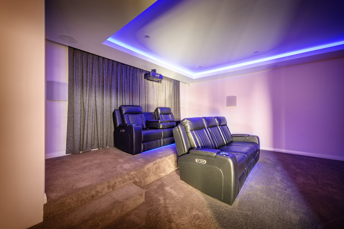 Custom Builders Perth Home Theater room