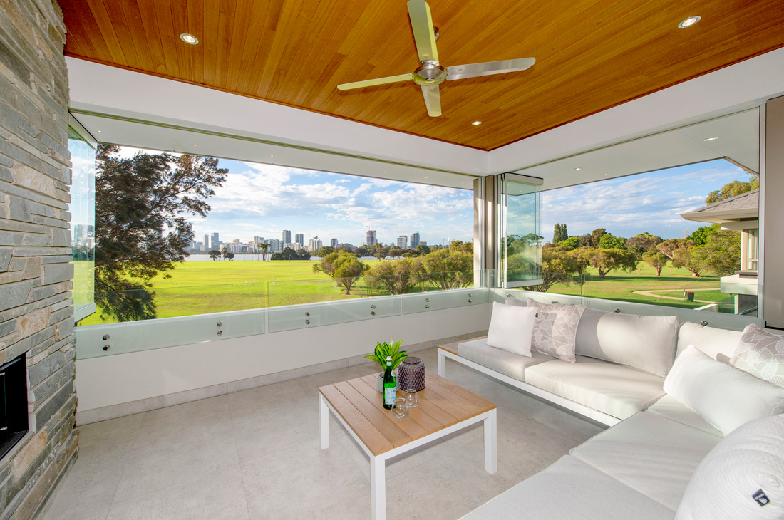 South Perth room with big windows