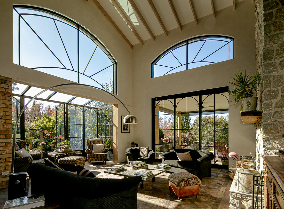 Tuscan Style Homes living room