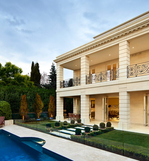 Limestone House and pool