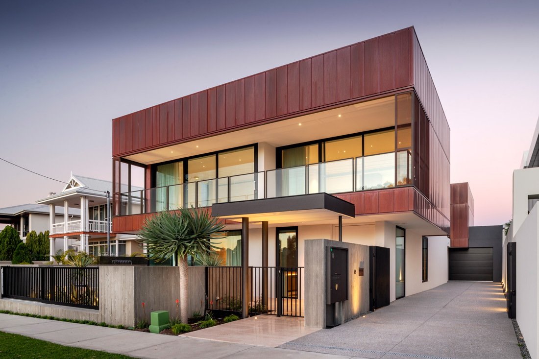 Copper Clad Home facade