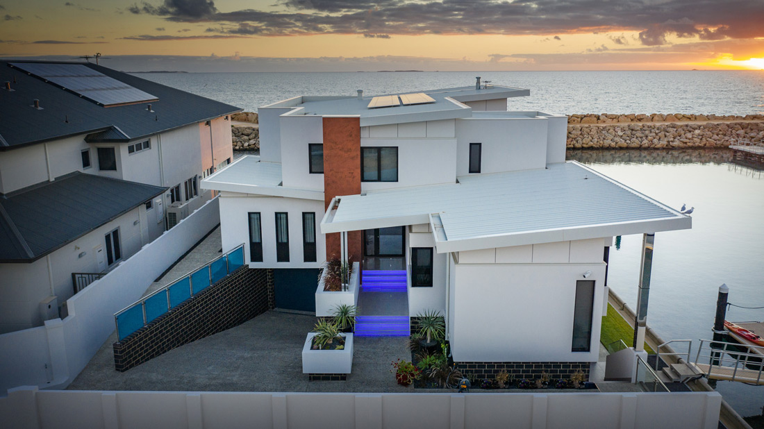 Custom Builders Perth roof view