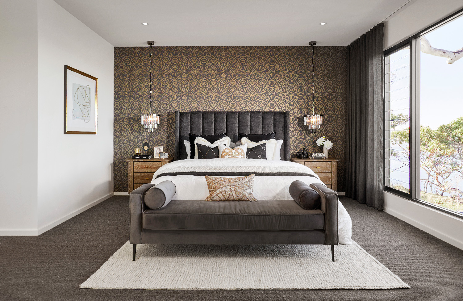 Contemporary Home-Master-Bed-2