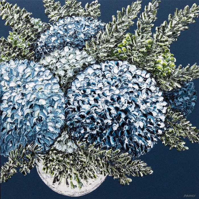 Original contemporary art flowers
