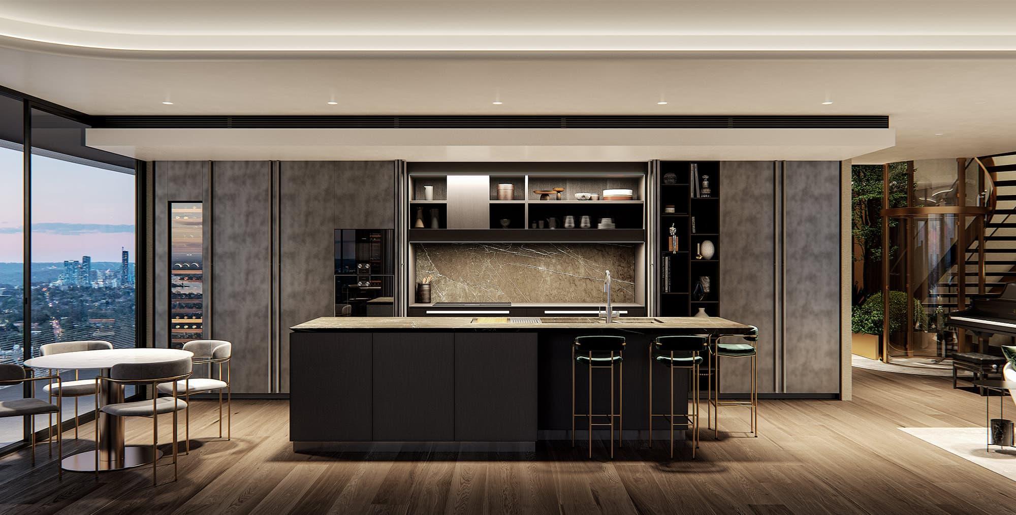 Luxury Italian Kitchen Sydney Penthouse