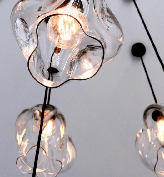 handblown glass lights